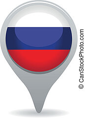 russia flag pointer