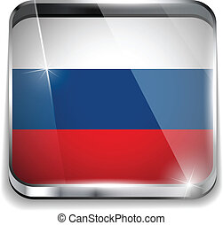 Russia Flag Smartphone Application Square Buttons