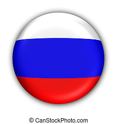Russia Flag - World Flag Button Series - Europe -...
