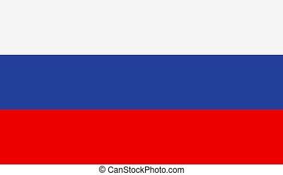 Russia Flag - Vector Illustration