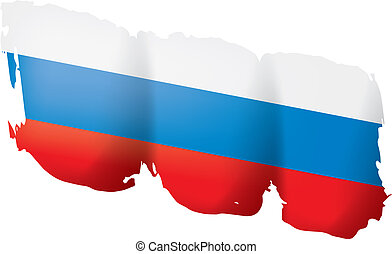 Russia flag, vector illustration on a white background