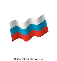 Russia flag, vector illustration