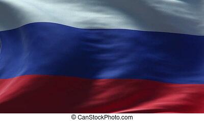 russia flag waving loop