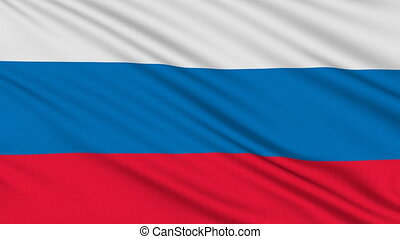 Russia flag, with real structure of a fabric