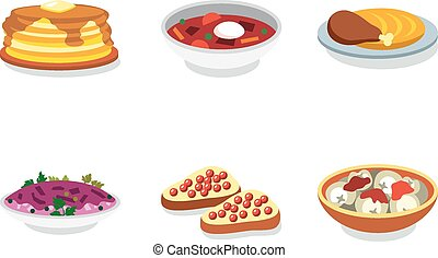 Russia food flat vector icon