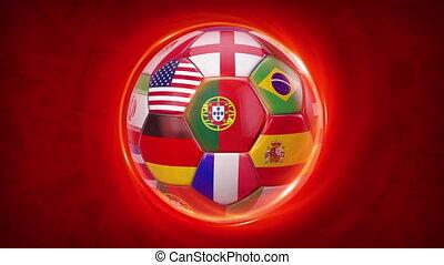Russia Football World Sport Event Teams 2018 4K Video Animation