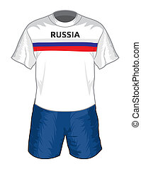 Russia football uniform