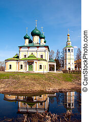 russia., groot, uglich, kloosters