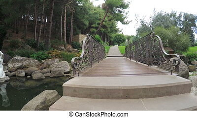 Bridge over Artifical pond