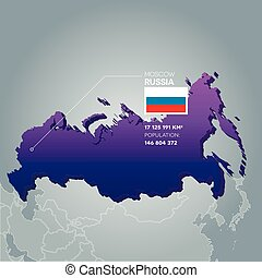 Russia information map.