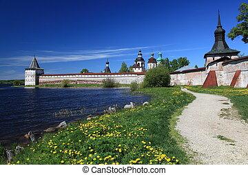 russia., kirillo-belozersky, vista geral, mosteiro