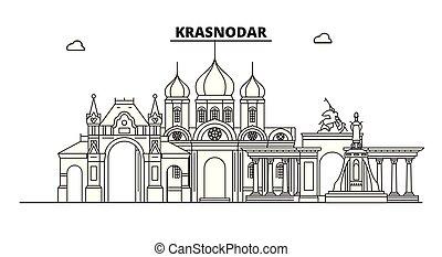Russia, Krasnodar. City skyline: architecture, buildings, ...