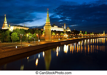 Russia Kremlin and river in the Moscow