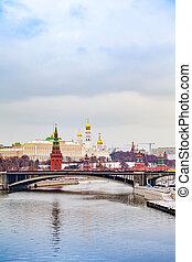 russia., kremlin, kremlin, hiver, moscou