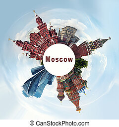 Russia, landmarks Moscow, travel concept - Russia, landmarks...