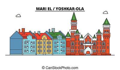 Russia, Mari El, Yoshkar-Ola. City skyline: architecture, ...