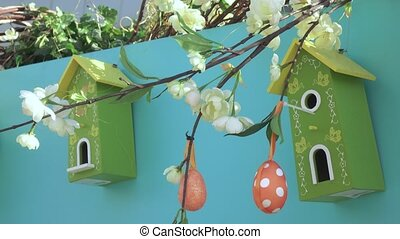 Decorative eggs for festive decoration - RUSSIA, MOSCOW -...