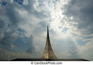 Russia, Moscow, Monument to subjugators of space.