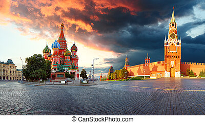 Russia - Moscow Red square with Kremlin