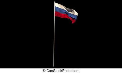 Russia national flag waving
