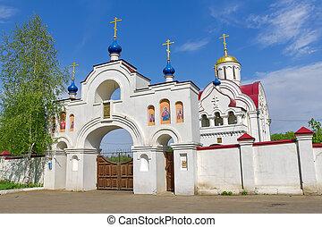 Russia. Orel region. Church in the village Pleshcheyevo.