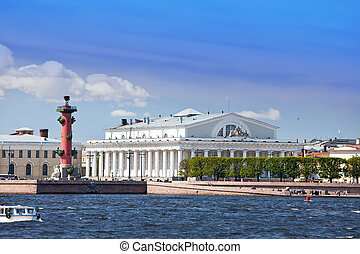 Russia. Petersburg. An arrow of Vasilevsky island and...