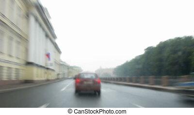 russia., petersburg., timelapse., podróż, drogi