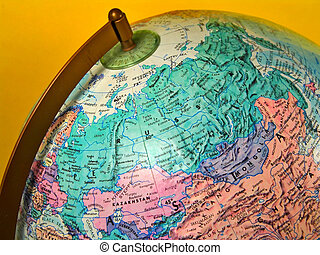 Russia - Photo of a Globe With Emphasis on Russia