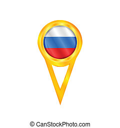 Russia pin flag