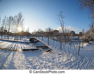 russia., ponte, park., petrozavodsk