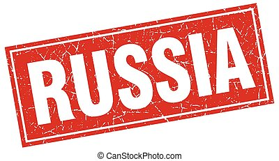 Russia red square grunge vintage isolated stamp