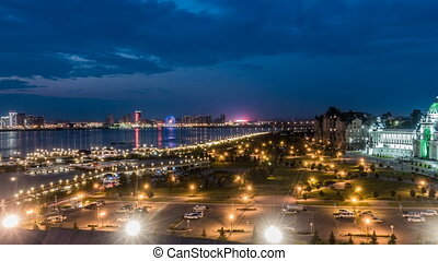 Russia, Republic of Tatarstan, Kazan, time laps, evening...
