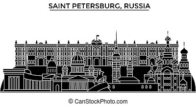 Russia, Saint Petersburg architecture urban skyline with...