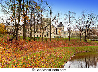 Russia. Saint-Petersburg. Gatchina. Autumn in palace park