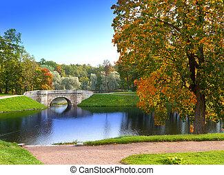 Russia. Saint-Petersburg. Gatchina. Autumn in park