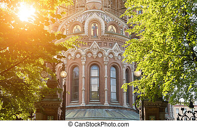 russia., saint-petersburg, sanguine, sauveur, église