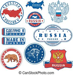 Russia. Set of generic stamps and signs
