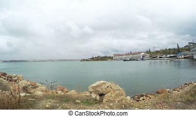 Panorama views of Sevastopol bay