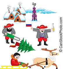 russia - siberia - set of images on Russian Siberia