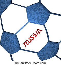 Russia soccer ball background