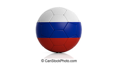 Russia soccer football ball isolated on white background. 3d illustration