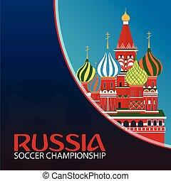 Russia. Sport, football. Vector illustration. Soccer...