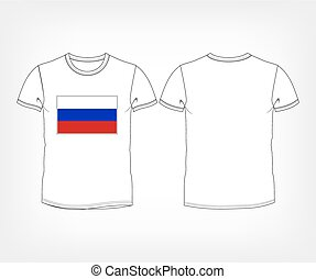 t-shirt with the flag of Russia