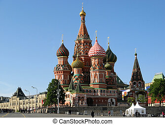 russia, st, mosca, basil's, cattedrale
