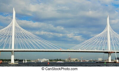 Russia St. Petersburg Gulf Cable-stayed bridge - Russia...