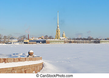 Russia. St. Petersburg in winter