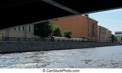 Russia St. Petersburg travel on the rivers architecture -...