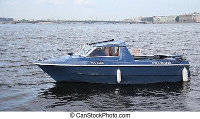 walking on a boat in St. Petersburg - Russia, St....