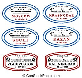 Russia stamps - Travel stamps from Russia. Fictitious stamps...