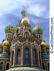 Russia, St.Petersburg. Temple Spas-na-krovi.